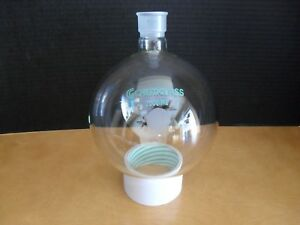 New Other Chemglass Cg 1506 2000 Ml Round Bottom Flask 29 26 Joint