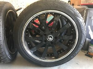 22 Forgiato Black Rims Tires