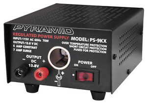 Pyramid Ps9kx Regulated 12 Volt 5 Amp Power Supplies Fully Regulated
