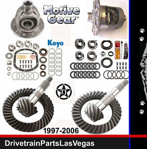 Motive Dana 35 30 Gear Set Pkg Master Kit 4 11 Ratio Trac Lock Posi Front Case