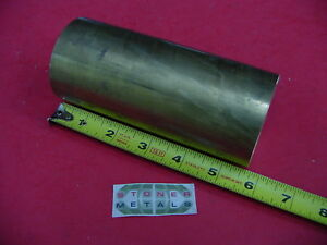 2 1 2 C360 Brass Round Rod 5 5 8 Long Solid H02 Lathe Bar Stock 2 50 Diameter