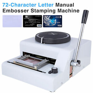 72 Character Letter Manual Stamping Embosser Machine Pvc Credit Card Embossing