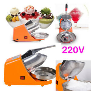 Commercial Stainless Steel Electric Ice Shaver Machine Snow Cone Maker Crusher