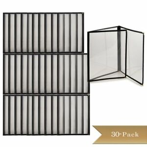 Truecraftware Set Of 30 Triple Fold Panels Menu Cover Black Double Stitched