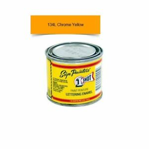 1 Shot 134l 4oz Chrome Yellow Lettering Enamel Pinstriping One Shot Paint