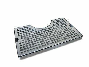 Non slip Rubber Padded Stainless Steel Drip Tray With Tower Cutout By