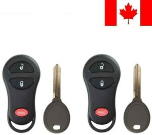 2x New Replacement Keyless Entry Remote Key Fob Y160 pt For Chrysler Dodge Ram