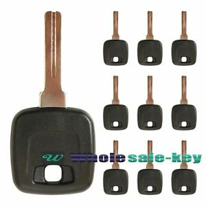 Transponder Chip Ignition Key Uncut Blade Blank Insert For Volvo With Id48 Chip