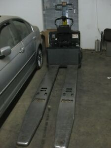 2011 Crown Double Electric Pallet Jack 8000 Lb 96 Forks Access123 Inspected