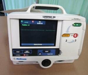 Physio control Lifepak 20 Biphasic 3 Lead Ecg Pacing Analyze Battery