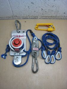 Rollgliss Brda D8112 Rope Rescue Pulley Safety Lift W Descender Free Shipping