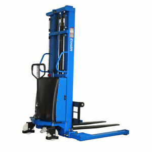 Eoslift 3 300 Lbs 118 In Raised Height Semi electric Straddle Stacker Pallet T