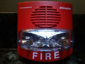 Simplex 4903 9425 Wall Mount Fire Alarm Strobe Red D5895 Free Shipping
