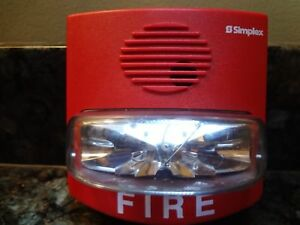 Simplex 4903 9419 Non addressable Red Fire Alarm Strobe Free Shipping