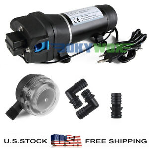 110v Self priming Diaphragm Pump 40psi Pressure Water Pump Caravan boat rv