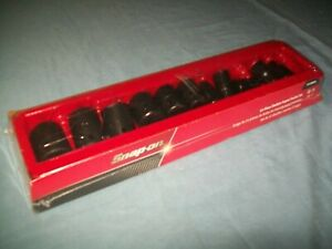 New Snap on 1 2 Drive 3 8 1 6 point Shallo Impact Socket Set 311imya Sealed