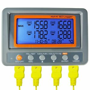 Az Instruments 4 Channel K Type Thermometer Sd Card Data Logger Thermocouple