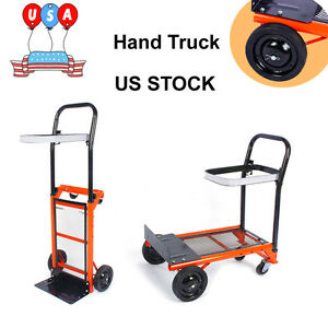 Folding Cart Foldable Dolly Push Pull Hand Truck Load Barrow Collapsible Trolley