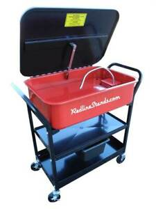 Redline Re20pwr Rolling Mobile 20 Gallon Parts Washer Cabinet