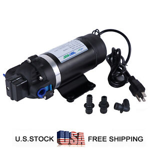110v Self priming Diaphragm Pump 160psi High Pressure Water Pump Caravan rv boat