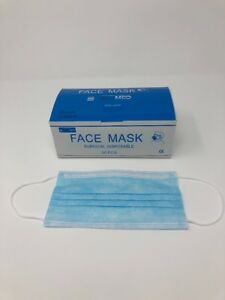 Face Mask Blue Disposable case Of 2000
