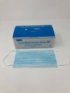 Face Mask Double Wire Blue Disposable case Of 2000