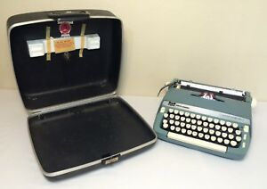 Vintage Smith Corona Super Sterling Typewriter Usa Word Novel Processor Computer