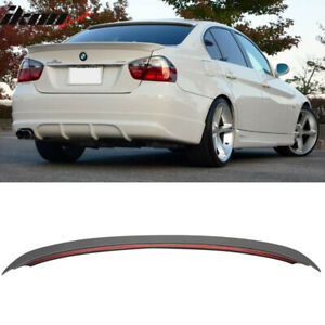 Fits 06 11 Bmw 3 Series E90 Sedan Ac Style Unpainted Abs Trunk Spoiler Wing