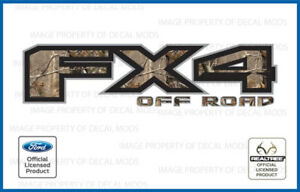Set Of 2 2016 Ford F150 Fx4 Off Road Decals Stickers Camo Realtree Ap Hunting
