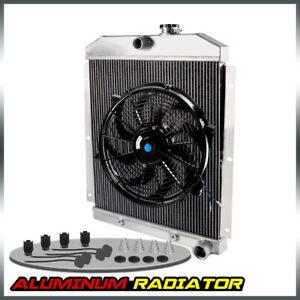 For Chevy 3100 3600 3800 Truck Pickup L6 1947 1954 Aluminum Radiator 14 Fan