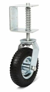 Nordstrand 8 inch Gate Wheel Casters Kit With Spring Improved 2018 Model