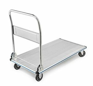 Adiroffice Folding Aluminum Platform Truck Flatbed Cart Single Handle 5