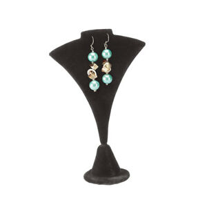 6 Inch Fan shaped Black Velvet Earring necklace Display Stand Pack Of 25