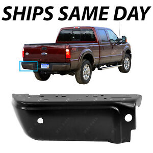 New Primered Drivers Left Lh Rear Bumper End For 2008 2016 F250 F350 Sd W Park