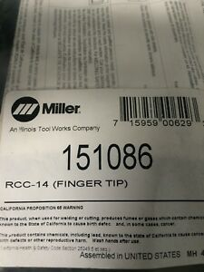 Miller Electric Rcc 14 Finger Tip Part Number 151086 New In Bag
