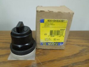 Square D 9001sks43b 3 Position Maintained Selector Switch Black Knob Surplus