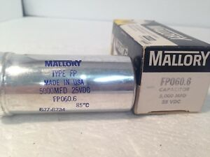 Mallory Fp060 6 Capacitor 25vdc new In Box