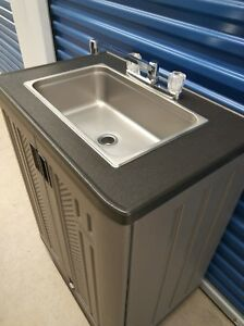 Self Portable Hand Wash Sink Self Contained Hot And Cool Water 110v