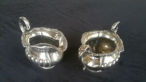 Antique Sterling Silver Cream And Sugar Set