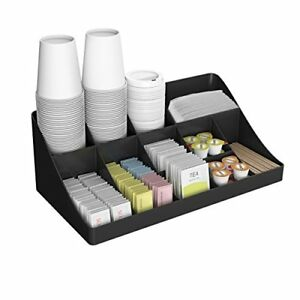 Mind Reader 11 Compartment Breakroom Coffee Condiment Organizer Black Other Tea