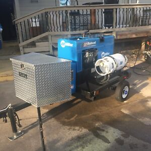 Miller Bobcat 225 Nt Welder Generator On Trailer With Storage