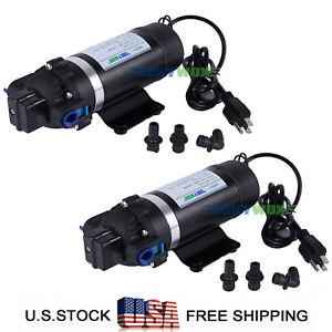 Pack Of 2 110v Self priming Diaphragm Pump 160psi Sprayer Water Pump Caravan