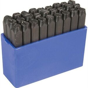 1 2 Tall Steel Letter Punch Stamp Set For Metal Stamping