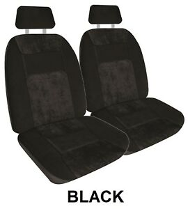 Pair Soft Velour Micro Cord Car Seat Covers For Mg Mga Rwd Coupe