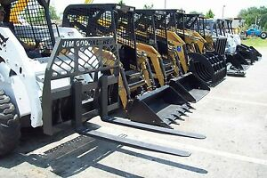 Bobcat Pallet Forks By Bradco Fits All Skid Steers Made Today 4000 Lb 48 Long