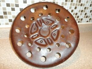 Vintage Metal Tractor Implement Seat Primitive Steampunk Free Shipping