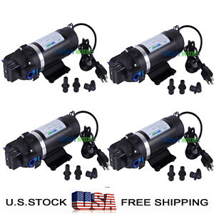 Pack Of 4 ac 110v Self priming Diaphragm Pump 160psi Boost Pressure Water Pump