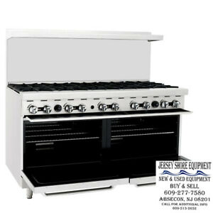 Atosa Ato 10b 60 Gas Range 10 Open Burners W Two 26 Wide Oven