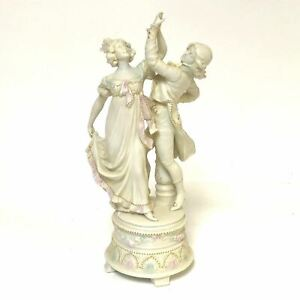 10 Bisque Parian Ware Figurine Of Dancing Couple