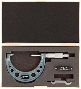 Mitutoyo 125 Point Spindle Micrometer 60 degree V anvil Od Measure 50 75mm 0 01